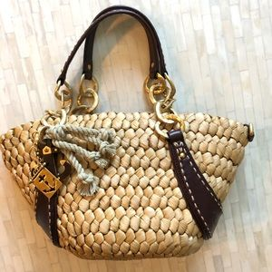 Juicy couture straw hand bag